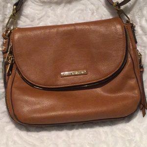 Poppy & Peonies crossbody purse in caramel